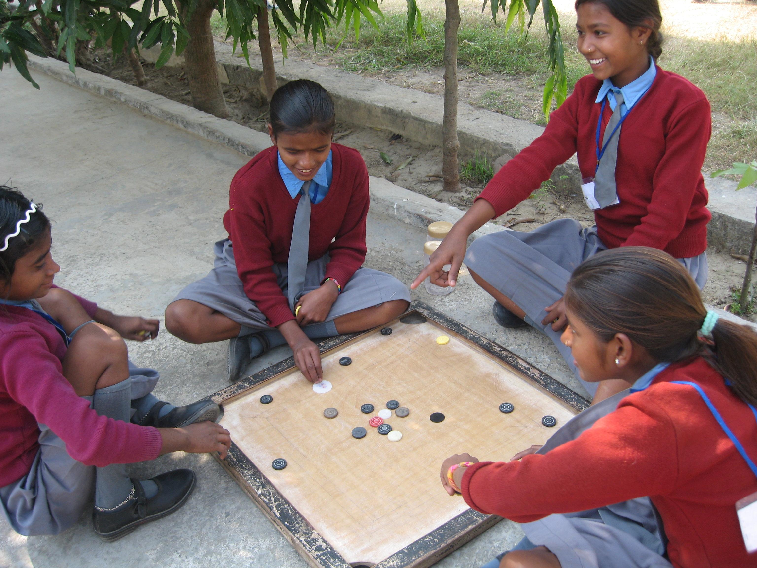 Une école à Bodh Gaya - Récréation