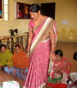 Une école à Bodh Gaya - L'atelier de couture