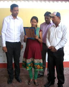 Une école à Bodh Gaya - Lecture du serment