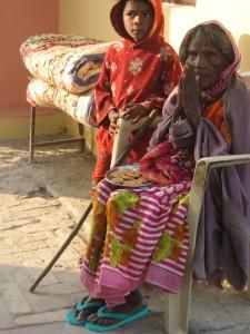 Une école à Bodh Gaya - vieille dame
