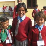 Une école à Bodh Gaya - regards de braise