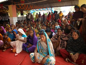 Une école à Bodh Gaya : Les parents des élèves