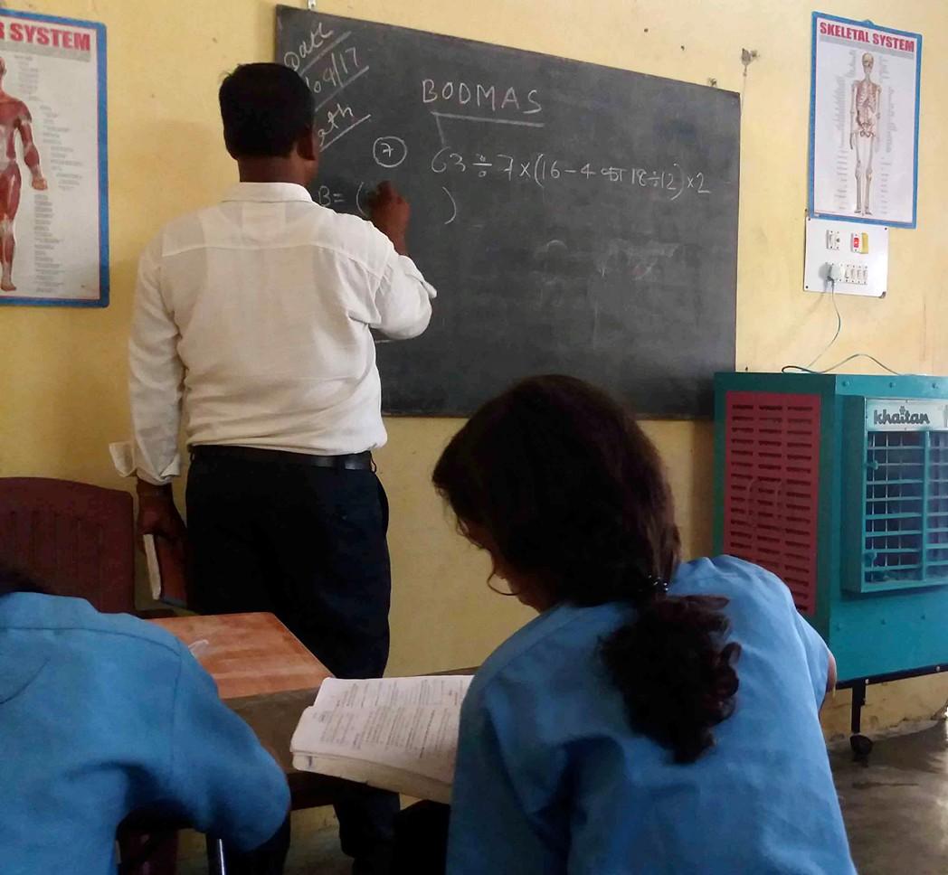Une école à Bodh Gaya 2018 - classe
